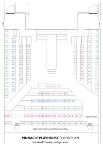 Pinnacle Playhouse Floor Plan - Standard Theatre configuration